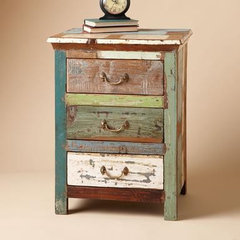 eclectic nightstands and bedside tables by Sundance Catalog