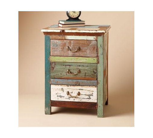 PAINTBOX SIDE TABLE - Side Tables & Dressers - Bedroom - For the Home | Robert R - Picture this: a mostly crisp white bedroom punctuated with these eclectic paintbox nightstands. Like snowflakes, no two are exactly alike.