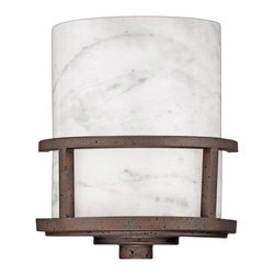 Quoizel - Quoizel KY8801IN Kyle 1 Light Wall Sconces in Iron Gate - This 1 light Wall Sconce from the Kyle collection by Quoizel will enhance your home with a perfect mix of form and function. The features include a Iron Gate finish applied by experts. This item qualifies for free shipping!
