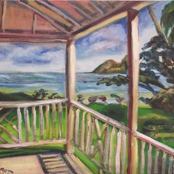 """Ohana Daydreams (Original) By Dixie Galapon - This picture just brings the Aloha spirit to my home in San Diego. """"Ohana"""" means """"family"""" - and some of my best memories were those simple beach vacations in Hawaii.  If I am lucky, I hope to return to Hawaii again in the future."""