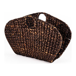 Open End Water Hyacinth Magazine Basket - Woven Accents Collection