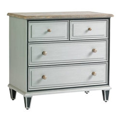 Stanley Furniture - Preserve-Beaufort Bachelor Chest - A Beaufort Bachelor Chest is calm and composed. Subtle glazed finishes combined with textural beaded drawer fronts and tarnished nickel knobs are sublime.