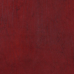 Dark Red Upholstery Recycled Leather By The Yard - Recycled leather is a sustainable environmentally friendly alternative to leather and pvc. Recycled leather looks and feels like genuine leather, but is sold by the yard and easier to maintain. The backing of this pattern is a blend of genuine leather, and results in a soft and durable leather alternative. There are several grades of recycled leather materials, ours are top grade. This material is cleanable with mild soap and water.