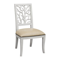 Dining Room - OLY - Great Dining chair or accessory desk chair - other finishes available.  Seat is upholstered in raffia (standard) but can be customized to any fabric.