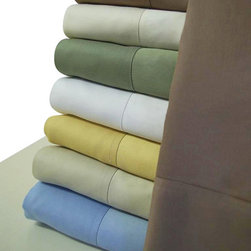 Bed Linens - 100% Bamboo Sheet Set Queen Blue - Wrap your self in the softness of the luxurious 100% silky bamboo sheets like those found in royalty homes. You won't be able to go back to cotton sheets after trying these 100% bamboo. Amazingly soft similar to cashmere of silk. 60% more absorbent than cotton. Sustainable, fast growth rate over 1 meter per day. Requires significantly less pesticides than cotton and is naturally irrigated. Natural anti-bacterial and deodorizing properties.