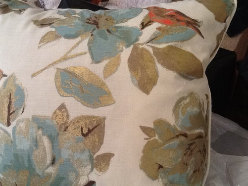 Nicole Miller Home Decorative Pillows : Can anyone help me identify the manufacturer of this home decor fabric? This is a Nicole Miller ...