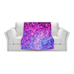 DiaNoche Designs - Throw Blanket Fleece - Radiant Orchid Galaxy - Original Artwork printed to an ultra soft fleece Blanket for a unique look and feel of your living room couch or bedroom space.  DiaNoche Designs uses images from artists all over the world to create Illuminated art, Canvas Art, Sheets, Pillows, Duvets, Blankets and many other items that you can print to.  Every purchase supports an artist!