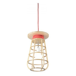 ParrotUncle - Wooden String Cover Goatherd Pendant Lamp - Wooden String Cover Goatherd Ceiling Lighting Pendant Lamp