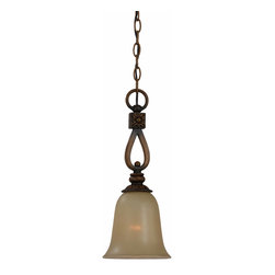 Triarch International - Triarch 31919 Vintage Weathered Teak Mini Pendant - Triarch 31919 Vintage Weathered Teak Mini Pendant
