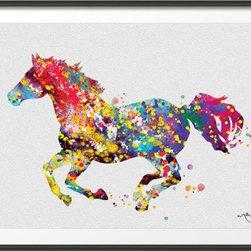 KidsPlayHome - Kids Wall Art Magic Horse - FINE ART PRINT HANDMADE ITEM