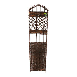 """Master Garden Products - Woven Willow Trellis, 18""""L x 72""""H - Our willow trellises are self standing and are constructed with natural willow sticks. Use them for climbing vines or roses or just ornamental purposes. They will add a another dimension to your garden design."""