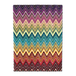 Missoni Home Liuwa Modern Rug - Oh, Missoni! Now not only am I dying to wear your clothes, I want my home to wear your designs too. This rug in particular, in all its crazy rainbow glory, would be a most welcome addition to my floors.
