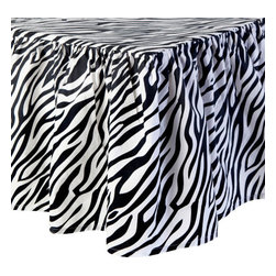 Sin in Linen - Zebra Crib Sheets - Your little animal will go wild for this zebra baby bedding!  Includes crib sheet and crib skirt.