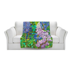 DiaNoche Designs - Fleece Throw Blanket by Paul Cadieux - Whispering Flowers - Original Artwork printed to an ultra soft fleece Blanket for a unique look and feel of your living room couch or bedroom space.  DiaNoche Designs uses images from artists all over the world to create Illuminated art, Canvas Art, Sheets, Pillows, Duvets, Blankets and many other items that you can print to.  Every purchase supports an artist!