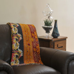 Kantha Quilts - Various kantha quilts available at www.anatoliaco.com.