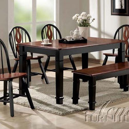 Acme Furniture - Chicago 5 Piece Dining Set - 9870-5set - Includes Table and 4 Windsor Chairs