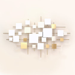 Frontgate - Multiples Mirror Wall Sculpture - Handcrafted of brass and mirrors. Wipe clean with a soft, dry cloth. Wall sculpture is copyrighted, dated, and signed by the artist. Our Multiples Mirror Wall Sculpture from Artisan House presents a shining arrangement of brass and mirrored squares. A striking contemporary metal sculpture, this wall art will add dimension to any room in your home.. . . .