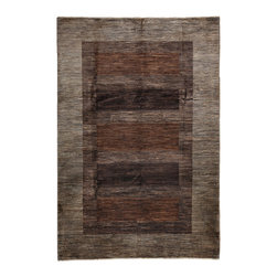 """Darya Rugs - Darya Rugs Modern, Brown, 6'8"""" x 9'9"""" M1725-62 - Darya Rugs Modern collection represents a minimalistic, timeless statement that complements transitional, contemporary, and traditional interiors. All rugs were hand-knotted by skilled artisans and weavers."""
