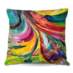 DiaNoche Designs - Pillow Woven Poplin from DiaNoche Designs - Synesthesia - Toss this decorative pillow on any bed, sofa or chair, and add personality to your chic and stylish decor. Lay your head against your new art and relax! Made of woven Poly-Poplin.  Includes a cushy supportive pillow insert, zipped inside. Dye Sublimation printing adheres the ink to the material for long life and durability. Double Sided Print, Machine Washable, Product may vary slightly from image.