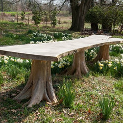 Groundwork Home Porfolio - Triple root table with a live-edge Ginko slab by Groundwork Home.
