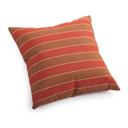 ZUO - Joey Outdoor Pillow - Small - Add a pop of color to beige furniture with the Joey Pillow. Features wide clay and brown stripes. Water resistant for outdoor furniture. Comes in small or large.