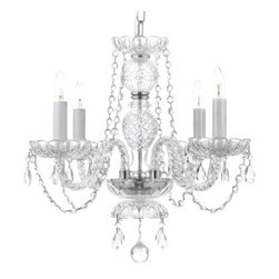 Gallery - Gallery 275-4 4 Light 1 Tier Murano Venetian Style All-Crystal Chandelier - Features: