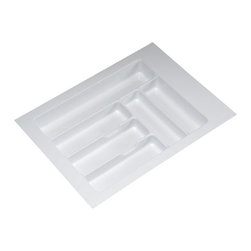 Hafele - Cutlery Tray in White Gloss (Set of 10) - Choose Size: 15.25 - 17.75 W x 18 - 21.25 D x 2.25 H