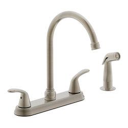 Estora - Estora Tavianno Two Handle Kitchen Faucet, Brushed Nickel - Estora Two Handle Kitchen Faucet from the Tavianno Collection