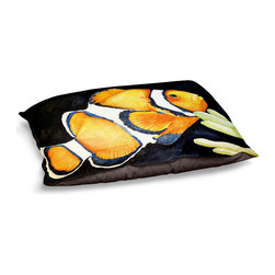 DiaNoche Designs - Dog Pet Bed Fleece - Deep Sea Life- Clown Fish - The comfort of your pet is of the utmost importance. But shouldn't their furniture match yours? DiaNoche Designs gives your pet some clout with our stable of international artists designs on their new bed.