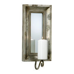 Cyan Design - Cyan Design Lighting 02701 Abelle Candle Mirror Sconce - Cyan Design 02701 Abelle Candle Mirror Sconce
