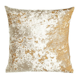 """Horchow - Luxe Crushed Velvet Pillow 22""""Sq. - Luxe Crushed Velvet Pillow 22""""Sq.DetailsHandcrafted of hand-dyed polyester velvetDry clean.22""""Sq. Made in the USA of imported materials."""