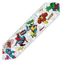 York Wallcoverings - Marvel Comics Classic Heroes Prepasted Wall Border - FEATURES: