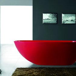 "Dazio II Luxury Modern Bathtub 73"" Red - Dazio II  Luxury Modern Bathtub"