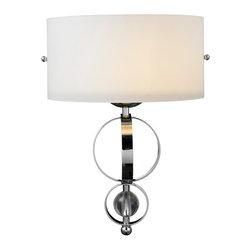Golden Lighting - Golden Lighting 1030-WSC CH 1 Light Wall Sconce - Sophisticated, sleek modern style creates glamour