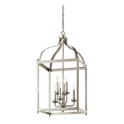 Kichler Lighting - Kichler Lighting 42568NI Larkin Traditional Foyer Chandelier In Brushed Nickel - Kichler Lighting 42568NI Larkin Traditional Foyer Chandelier In Brushed Nickel