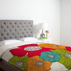 DENY Designs - DENY Designs Valentina Ramos Garden Flowers Duvet Cover - 13486-DUWKIN - Shop for Duvets from Hayneedle.com! The DENY Designs Valentina Ramos Garden Flowers Duvet Cover available in your choice of gorgeous floral art prints and sizes adds a whimsical charm to your bedroom decor. Custom-printed for each order to ensure bold long-lasting colors this duvet cover is machine washable and has a simple metal snap closure.About DENY DesignsDenver Colorado based DENY Designs is a modern home furnishings company that believes in doing things differently. DENY encourages customers to make a personal statement with personal images or by selecting from the extensive gallery. The coolest part is that each purchase gives the super talented artists part of the proceeds. That allows DENY to support art communities all over the world while also spreading the creative love! Each DENY piece is custom created as it's ordered instead of being held in a warehouse. A dye printing process is used to ensure colorfastness and durability that make these true heirloom pieces. From custom furniture pieces to textiles everything made is unique and distinctively DENY.