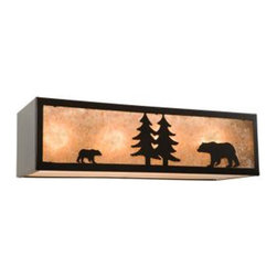 "Steel Partners Inc - Nature Vanity - 24"" - BEAR (4 Light) - Every piece we create is unique — handcrafted at our factory in Chehalis, Washington, USA. Due to this, lead times are 2 to 4 weeks."