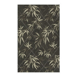Momeni - Momeni Veranda Bamboo Indoor/Outdoor Area Rug - Green - VERANVR-04GRN2030 - Shop for Rugs and Runners from Hayneedle.com! The Momeni Veranda Bamboo Indoor/Outdoor Rug - Green places sophisticated style and unsurpassed comfort securely underfoot. This finely crafted hand-hooked rug features an intricate bamboo-leaf motif in a mix of muted earthy green shades. The rug is constructed of durable 100% polypropylene and is available in a variety of sizes and shapes to suit any floor space. The rug is resistant to mildew and fading from UV rays and suitable for both indoor and outdoor settings.Sizes offered in this rug:Following are all sizes for this rug. Please note that some may be currently unavailable due to inventory. Also please note that rug sizes may vary by up to 4 inches in dimensions listed.Dimensions:2 x 3 ft. Rectangle3.9 x 5.9 ft. Rectangle5 x 8 ft. Rectangle8 x 10 ft. Rectangle9 ft. RoundCaring for Your Momeni RugVacuum rug weekly or hose down to clean and hang to dry.About MomeniMomeni a family name a mark of quality and an expert source of ideas for making your home come alive with true timeless beauty was established half a century ago when Ali A. (Haji) Momeni started a family business bringing exquisite Persian carpets to the United States. Though styles have come and gone behind them all is the fundamental principle that Momeni rugs are created to touch our senses. For half a century Momeni's award-winning rugs have been recognized time and time again with America's Magnificent Carpet Award for sophisticated style and quality craftsmanship suitable for any setting.