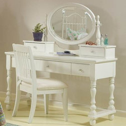 Bedrooms Furniture - Olivia Soft White Vanity Set