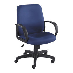 Safco - Safco Poise Blue Executive Mid-Back Office Chair - Safco - Office Chairs - 6301BU - As the perfect balance of composure and harmony Poise brings Zen to your workspace without allowing you to space out! The seats deep contours and generous size provides you and your guests with maximum comfort. Enjoy a full 360�� swivel with pneumatic seat height control tilt tension and tilt lock control. Poise also features four inch thick padded seat and back along with integrated loop arms.