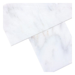 All Marble Tiles - Arabescato Carrara 6x6 Polished Marble Floor and Wall Tile - Finish: Polished