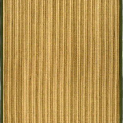 """Safavieh - Contemporary Natural Fiber 5'x7'6"""" Rectangle Green-Green Area Rug - The Natural Fiber area rug Collection offers an affordable assortment of Contemporary stylings. Natural Fiber features a blend of natural Green-Green color. Machine Made of Sisal the Natural Fiber Collection is an intriguing compliment to any decor."""