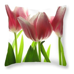 Floral throw pillow, floral pillowcase -