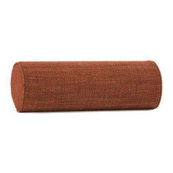"""Howard Elliott Coco Coral Bolster Pillow - Bolster Pillows offer both form and function to your decor. HECs Bolsters are made with a luxurious foam insert giving you comfortable support for your neck or back, while adding pop"""" to your furniture or bedding group with their crisp round shape."""