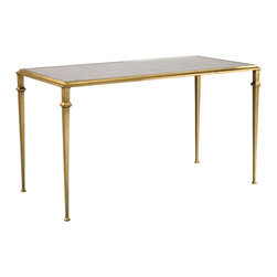 Lillian August - Lillian August Tria Cocktail Table in Gold LA95311-01 - A welcome addition to the tria table collection, this best selling cocktail table is now available in a second finish. Aged gold finish with eglomise mirrored top.