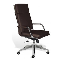 Jesper Office Furniture - Greta High-Back Office Chair -Brown - Features:
