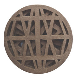 Convivial Production - Handmade Stoneware Hot Plate/Trivet, Round - These trivets are nothing like anything you have seen before. Each piece is hand-made and carved, inspired by the line details of architectural structures. They are made from a dark stoneware clay body and fired raw. To use these all you need do it simply set them down on your dinning room table when it is time to eat and place your hot pot on top. They are the perfect little touches to use when styling your table.