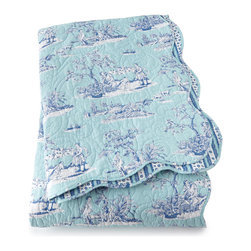 """Horchow - Twin Toile Quilt 66"""" x 86"""" - Twin Toile Quilt 66"""" x 86"""""""