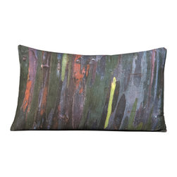 """Kuchi Kuu - Granada Woodland Collection Artisan Pillow, 16"""" x 24"""" - Eco-friendly, artisan pillow covers are created from photographic images found in nature that are applied to organic cotton twill using water-based inks.  Pillow inserts are a 10/90 combination of down and feathers.  The pillow covers can be hand washed in cold water or dry cleaned."""