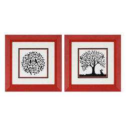 Paragon - Birdies PK/2 - Framed Art - Each product is custom made upon order so there might be small variations from the picture displayed. No two pieces are exactly alike.